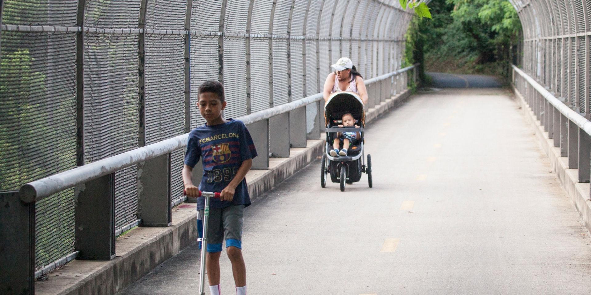Custis Trail scooter and stroller